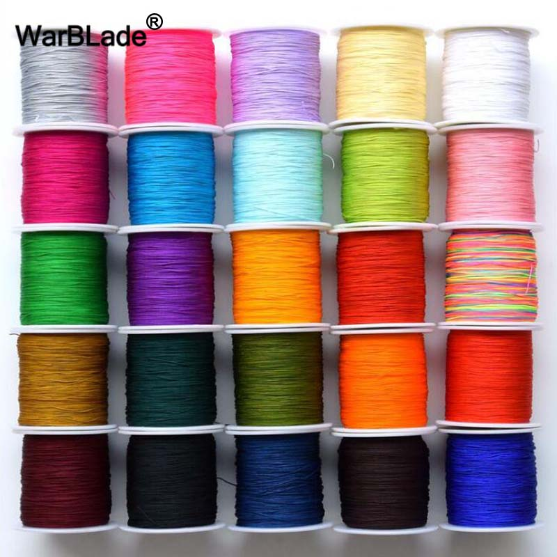 High Quality 100M/Spool 0.8mm 1mm 1.5mm 2mm Cotton Cord Nylon Cord Thread String DIY Beading Braided Bracelet Jewelry Making 100yards spool 1mm waxed cotton cord thread cord plastic string strap diy rope bead necklace european bracelet ma