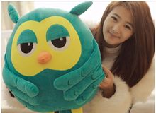 middle cute plush Owl pillow new creative green owl toy doll gift about 50cm 0239
