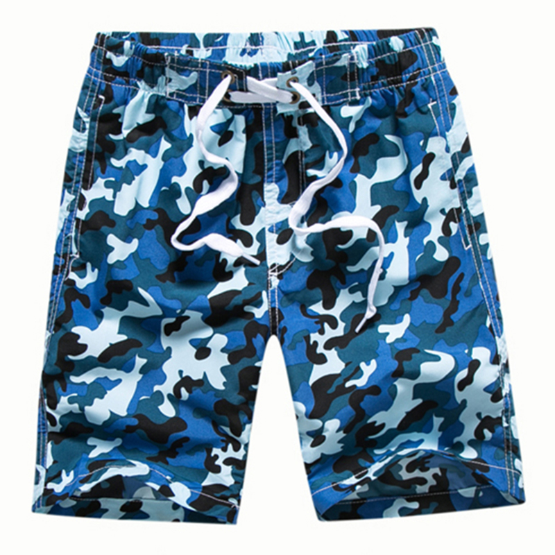 2019 Summer Boys Casual   Shorts   Quick-Dry Board   Shorts   Kid Beach   Shorts   7-14 Yrs Children Boys   Shorts   Camouflage Surf Swimwear