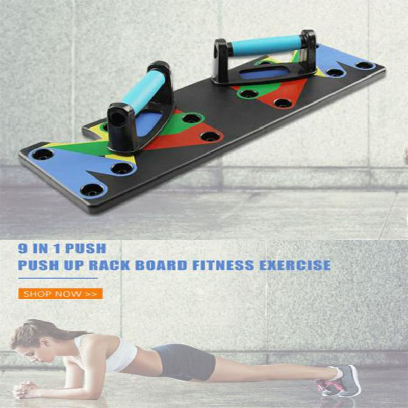 9 In 1 Body Comprehensive Exercise Bracer Building Rack Board Workout Training Gym Exercise System Push Up Stands Dropshipping
