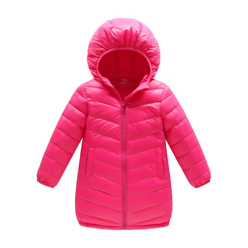 Winter Thin The Long Section Of Solid Color Children Boys Girls Children's Clothing Down Jacket children of rhatlan