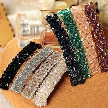 Hot Fashion  Bling Headwear Handmade Full Crystal Hair Clip Barrette Hairpin Women   7FRX