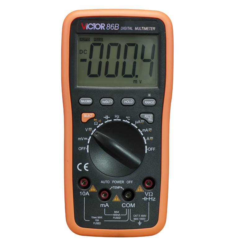 Digital Multimeter VICTOR VC86B USB Interface Auto Range Multifunctional victor dm6235p digital tachometer
