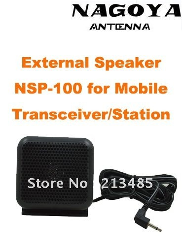 100% New Original NAGOYA NSP-100 External Speaker 8ohm With 3.5mm Plug For Mobile Transceiver
