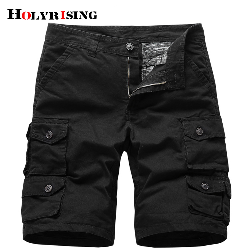 New 2019 Multi-pocket Men Cargo Shorts Casual Loose Short Pants Solid Camo Military Summer Army Camouflage Tactical Shorts 18752