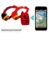 Водонепроницаемый собака GPS трекер воротник и дистанционного звуковой воротник для 2 охотничьих собак