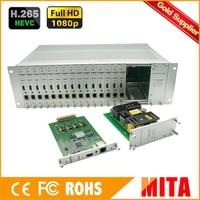 HL Бесплатная доставка 3U шасси 16 Каналы HDMI Кодера IPTV H.265/H.264 Комплектующие кодер для Live Streaming