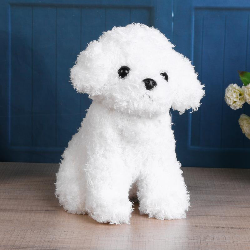 Simulation Cute Puppy Dolls for Baby Curly Teddy Gog Stuffed Plush Soft Pet Toys for Children Girls Kids Play Doll Birthday Gift