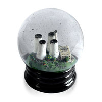 Creative Desktop Decoration Chimney Crystal Ball Glass Crafts Mini Figurines Miniature Home Decor F