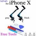 JCD зарядное устройство порт для наушников док-разъем с микрофоном гибкий кабель для iPhone X части бесплатные инструменты + отслеживание