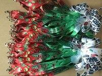 Promotion 12 barz of Christmas Lanyard 5pcs/pack keychains Neck Strap Santa Claus Lanyard