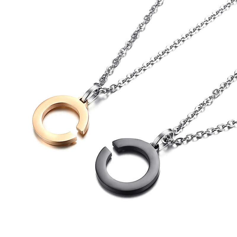 """Vnox ожерелье с гравировкой """"I BELIEVE IN YOUR LOVE FOREVER"""", CZ камень из нержавеющей стали для влюбленных, свадебные украшения, подарок для него/нее"""