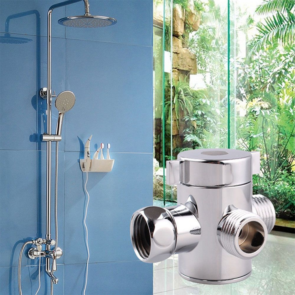 New Arrival Hot Selling 1/2Inch 3-Way T-adapter Adjustable Bath Shower Head Arm Mounted Diverter Valve Bathroom Tools