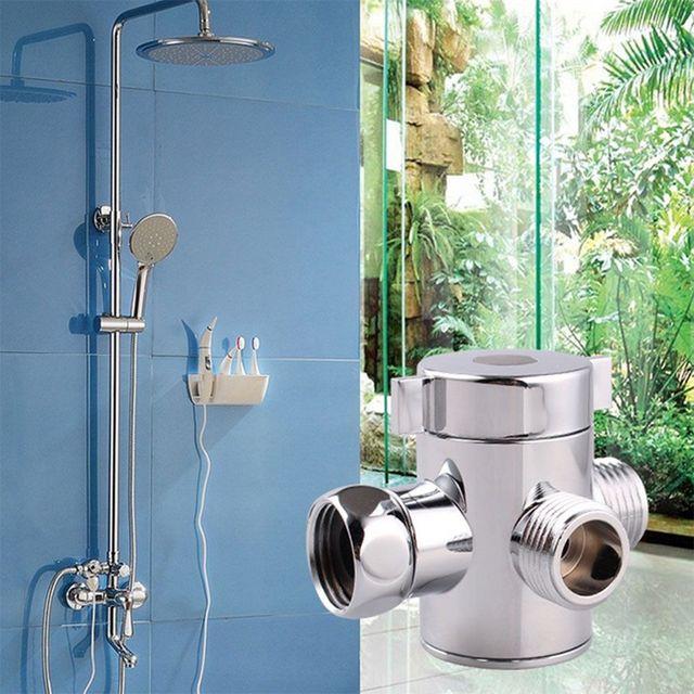 New Arrival Hot sprzedaży 1/2 Cal 3-Way T-adapter regulowana wanna prysznic głowica prysznicowa Arm do montażu na ścianie zawór przełączający łazienka narzędzia