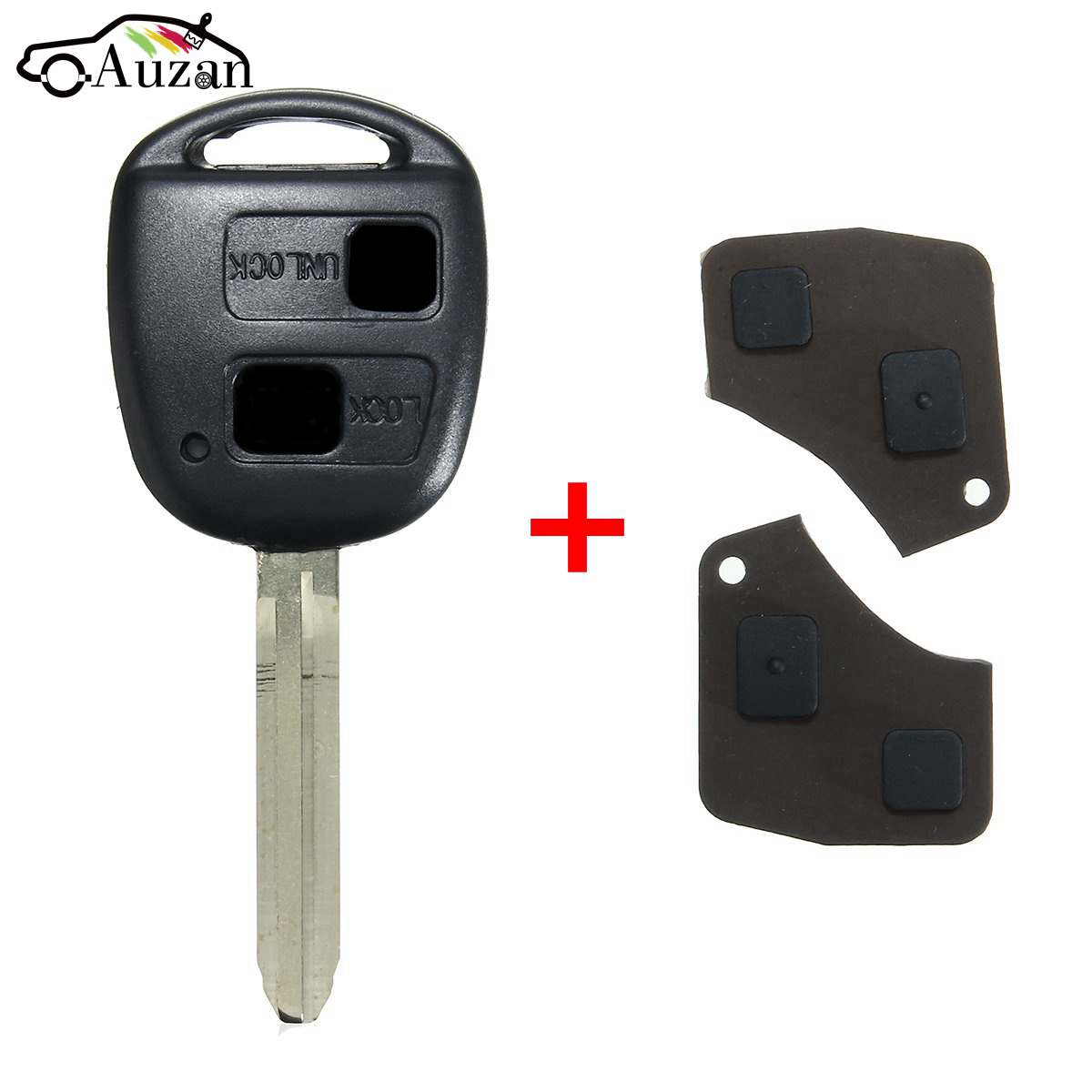 1 Set 2 Button Remote Key Shell Case & Pad For Toyota RAV4 Camry Corolla Prado Avalon литой диск replikey rk l18b toyota rav4 camry 7x17 5x114 3 d60 1 et45 s
