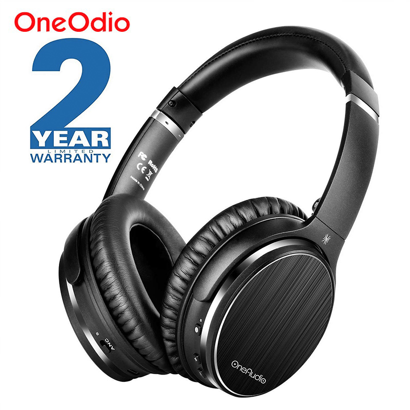 Oneodio A3 Bluetooth Headphones Active Noise Cancelling Wireless Headset Apt X Low Latency Over Ear Headphone