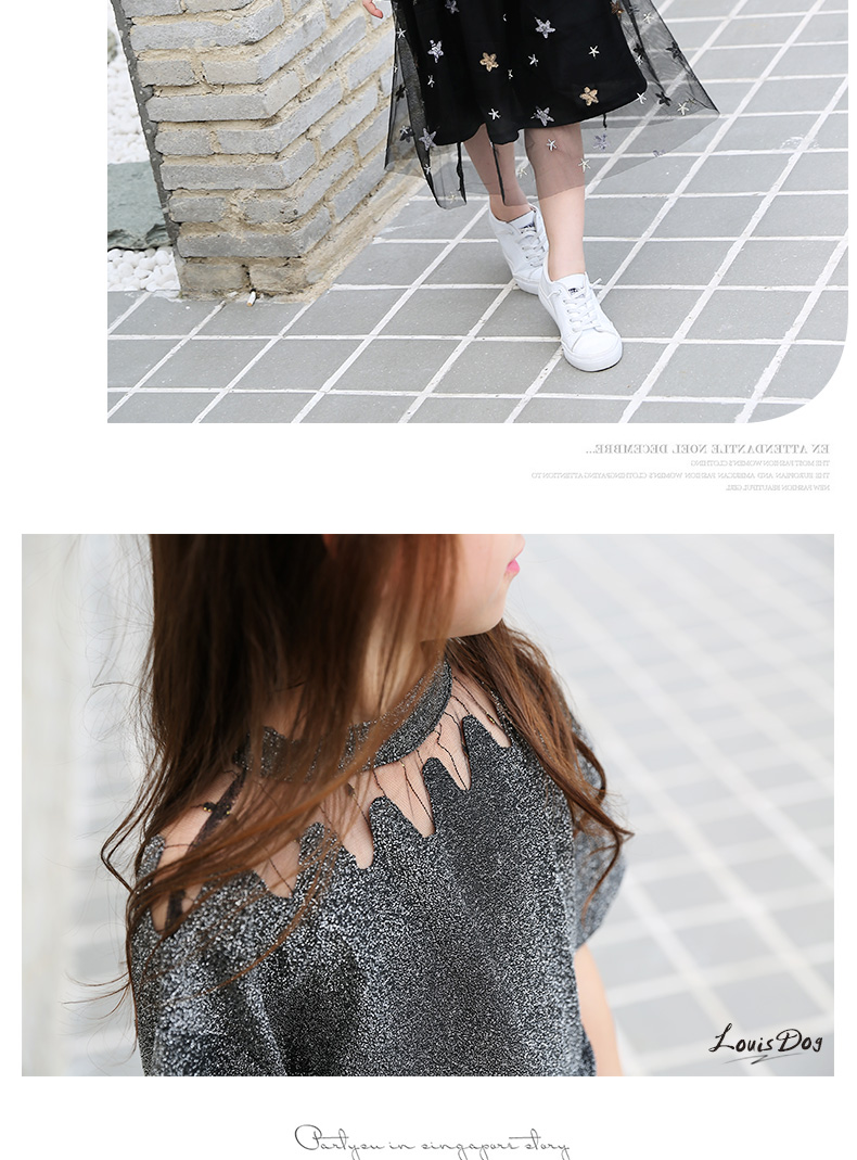 74d156971923 Girls Clothing Sets Teenage Summer Fashion costume for Big girl outfits  2pcs T shirt + Sequins Mesh Skirts 6 8 10 12 14 16 Years 0 10 11 A A1 A2 ...