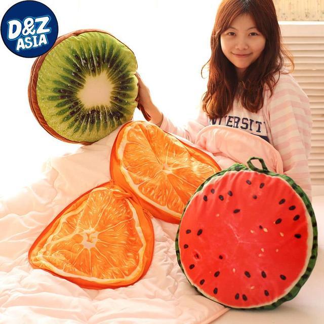 El cojín, almohada, fruta de la felpa es de aire acondicionado