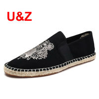 Cool Yet Functional Camouflage Canvas Espadrilles Shoes Men Loafers Summer Brand Male Linen Breathable Casual Sandals