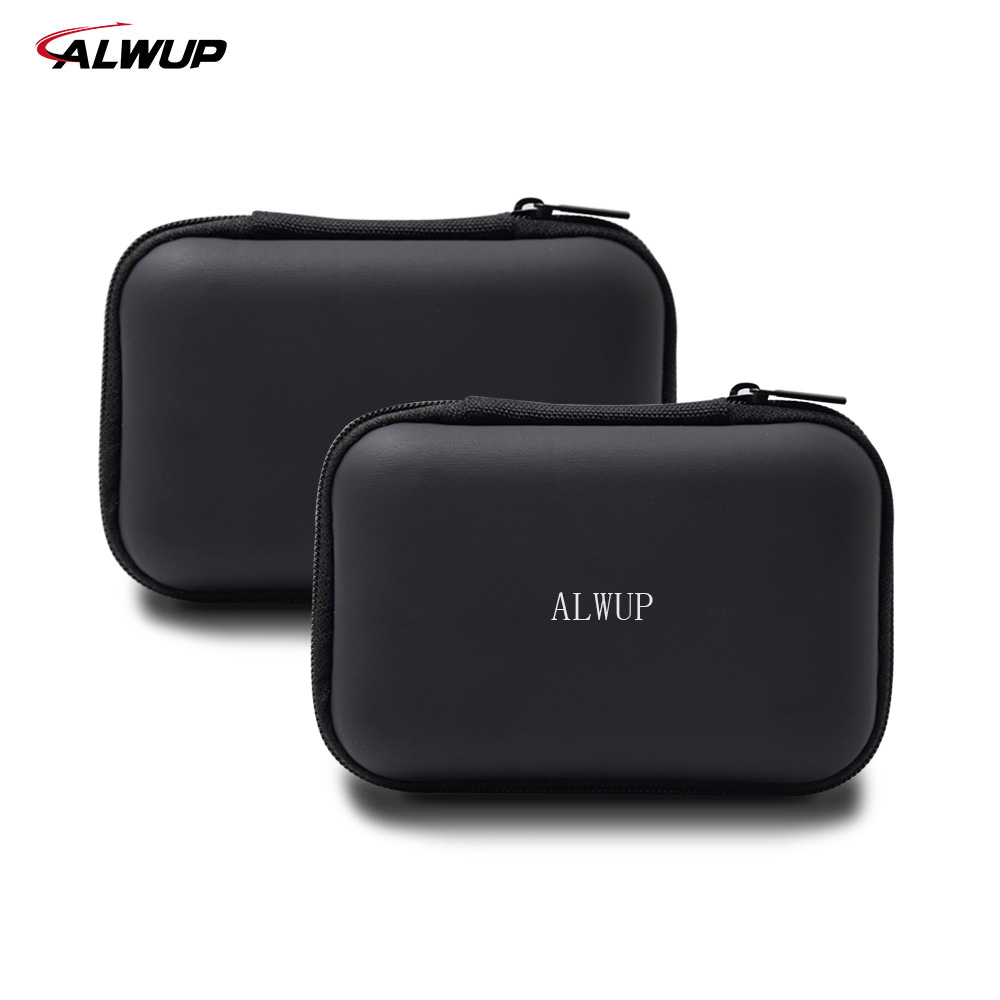 Alwup Earphone Case Bag Portable Headphone Earbuds Hard Box Storage For Memory Card USB Cable Original Mini Earphone Bag