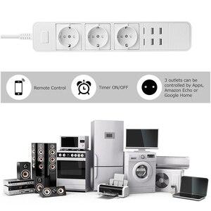 Image 3 - Rdxone akıllı Wifi güç şeridi wifi fişi soket 4 USB portu ses kontrolü Alexa ile çalışır, Google ev zamanlayıcı
