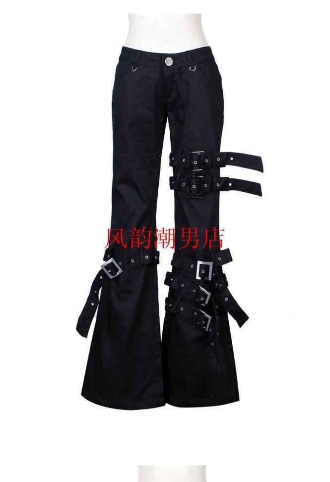 2019 Europa Und Die Vereinigten Staaten Neue Männer Persönlichkeit Bell-bottom Hosen Männer Große Größe Hosen Nachtclub Punk Wind Kostüme Geschickte Herstellung