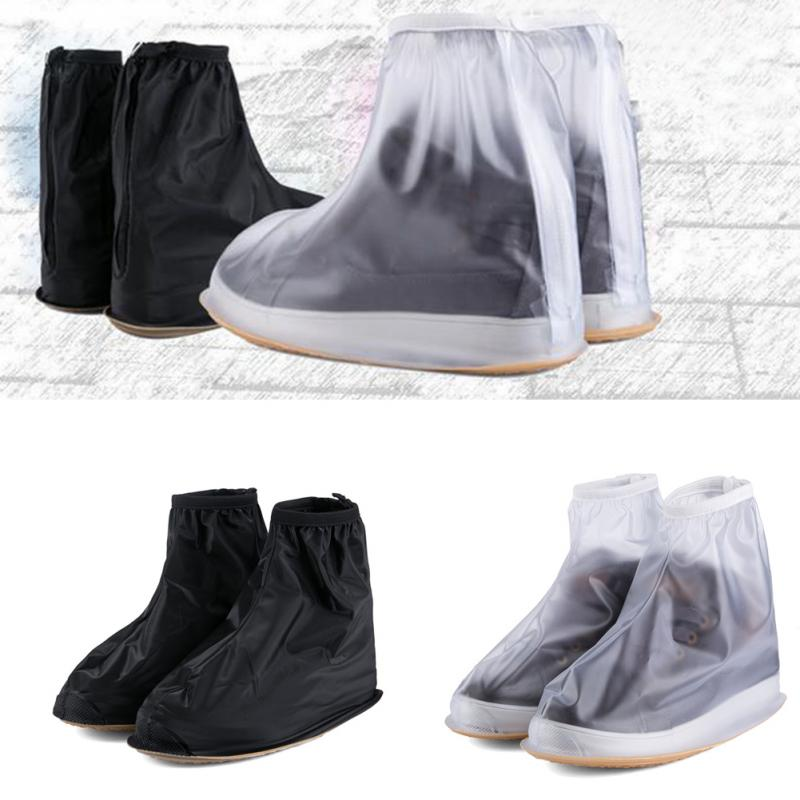 Reusable Unisex PVC Rain Boots Shoe Cover Waterproof Shoe Protector Cover Impermeable Thicker Anti-slip Rain Shoes Cover цена