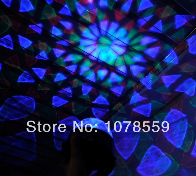 Led star night light projector with USB cable USB Mini RGB LED Stage Lighting colorful Auto Rotating Party DJ Disco Crystal Ball