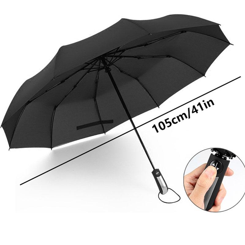 Ветер устойчивостью складной автоматический зонт авто Роскошные Большой ветрозащитный Зонты дождь для Для мужчин Три-складной мужской Audi зонтик