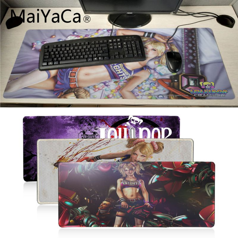 MaiYaCa Lollipop chainsaw game gamer play mats Mousepad Anime Cartoon Print Large Size Game Mouse Pad wife girl friend gift image