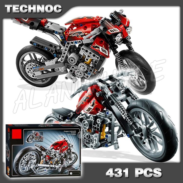 431 Piezas 3353 Técnica Motocicleta Calle Motocicleta Modelo Bloques De Construcción Volante Delantero Compatible Con Lego