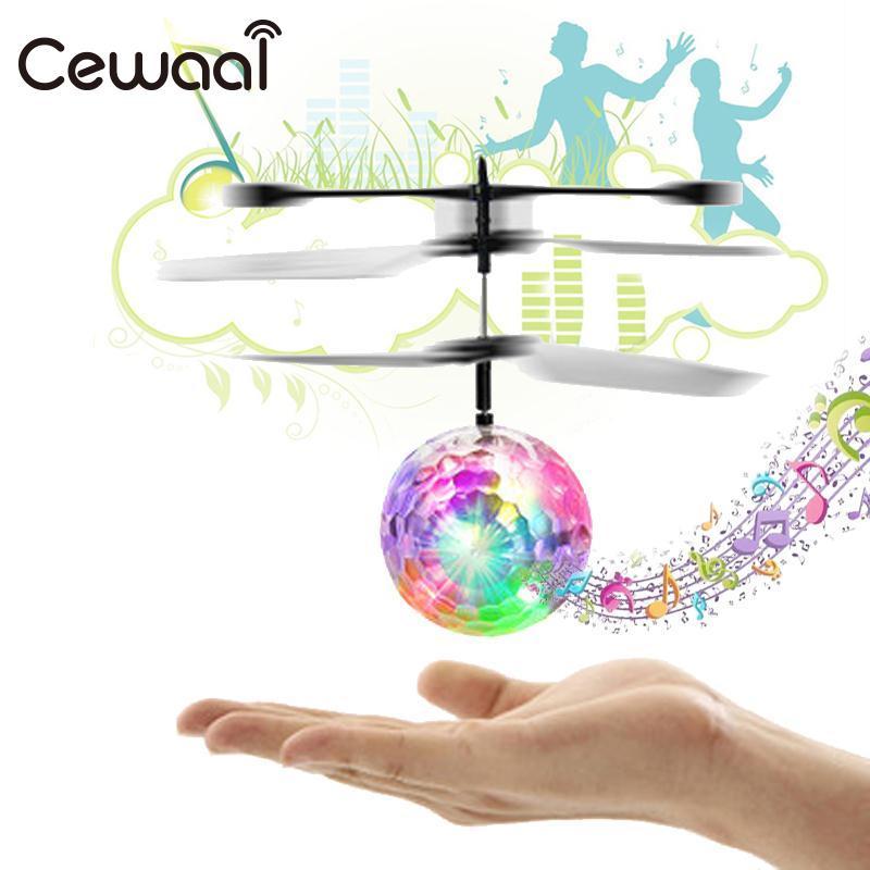 Phoota Children Flight Ball Flying Ball font b Drone b font Induction Aircraft Light Mini Shinning
