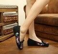 Moda feminina Sapatos Velhos Pequim Mary Jane Flats Lona Bordado Sola Macia Calcanhar Plana Sapatos Casuais Plus Size 41 SMYXHX-F0044