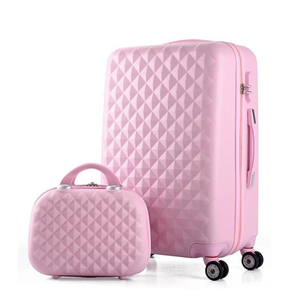 Image 2 - 여행 이야기 소녀 귀여운 트롤리 수하물 세트 abs 하드 사이드 싼 여행 가방 가방에 바퀴