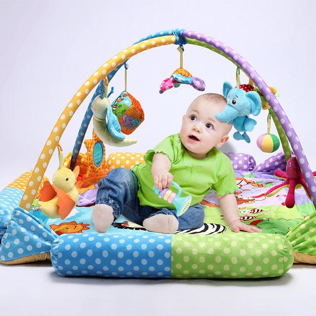 2017Hot Esteira Do Jogo Do Bebê Jogo Brinquedo Do Bebê Tapete Infantil Cobertor Subida Rastejando Mat Ginásio Atividade Educacional Musical Tapete Crianças 0-3Years