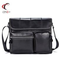 New Genuine Leather Men Handbag Men Bags High Quality Messenger Bags Small Travel Natural Cowhide Crossbody Shoulder Bag for Men