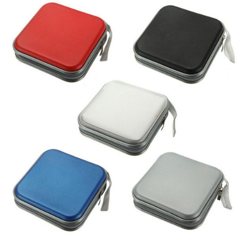Portable 40pcs capacity Disc CD DVD Wallet Storage Organizer Case Boxes Holder CD Sleeve Hard Bag Album Box Cases with Zipper ...
