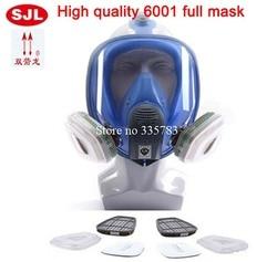 Completamente Sigillato Gas Maschera Completamente Chiusa Anti Gas Polvere di Vernice Respiratore chimico Efficienza di Filtrazione Di Gas Tossici Gas Mask6001