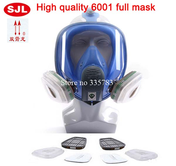 Fully Sealed Gas Mask Fully Enclosed Anti Gas Dust Paint Chemical Respirator Efficient Filtration Of Toxic Gases Gas Mask6001 new safurance protection filter dual gas mask chemical gas anti dust paint respirator face mask with goggles workplace safety