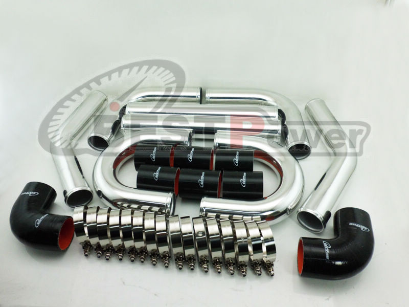 3 INCH /OD 76mm UNIVERSAL 2MM THICKNESS ALUMINUM INTERCOOLER TURBO PIPE PIPING/CAN BE WELDING 31x12x3 inch universal turbo fmic intercooler 3 inch piping kit toyota supra mkiii mk3 7mgte