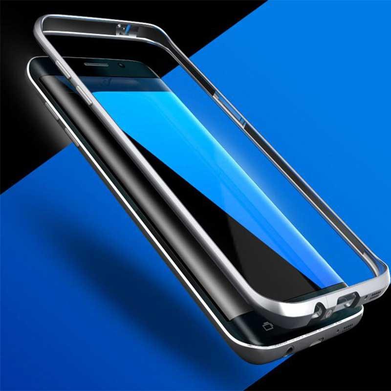 imágenes para GinMic Original Para Galaxy S7 Borde Ultra Thin Dura de Aluminio Protector de Parachoques Del Capítulo de La Manera Accesorios Móvil S7 Borde