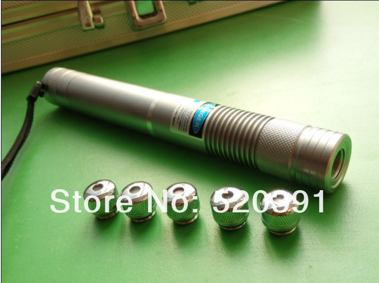 Super Powerful Military blue laser pointer 450nm 100W 100000m LAZER Flashlight Burning Match cigar cutting paper plastic 5 caps in Lasers from Sports Entertainment
