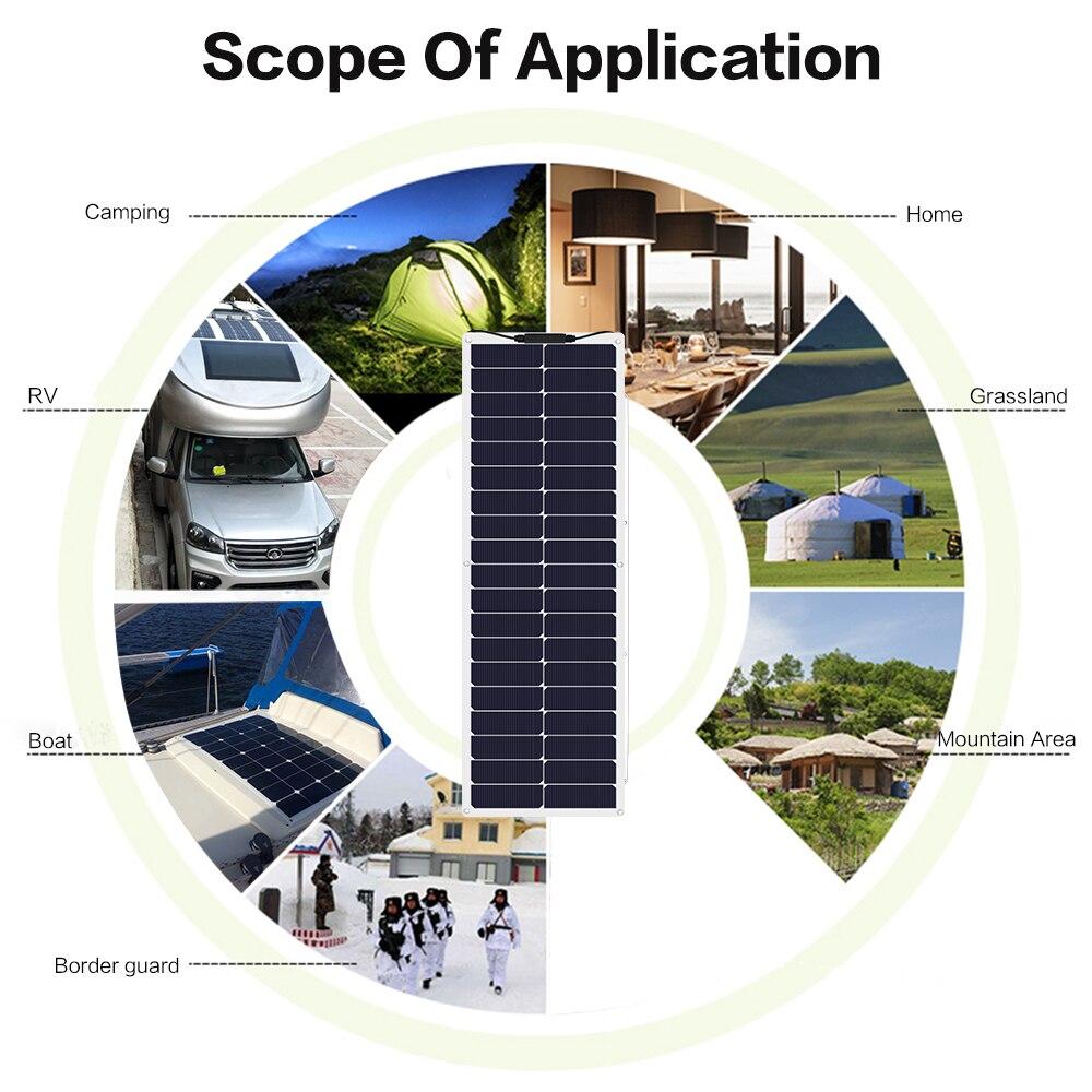 solar para RV iate 12v bateria de carro caravana