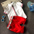 Child summer male fashion child 7 8 short-sleeve T-shirt shorts set 2 3 little boy baby clothes summer 6 4 5 Boy and girl