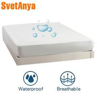Svetanya Waterproof Fitted Sheets Elastic Bedsheet Mattress Cover Protective Case Single Twin full queen king Size Solid Color