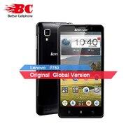 Yeni Orijinal Lenovo P780 Telefon MTK6589 Quad Core 1.2 GHz Android 4.4 5 'Karot II Goril Cam 4000 mAh 8MP Kamera 1280x720 OTG