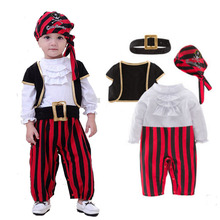 Halloween Baby Boys Cosplay Pirates Of The Caribbean Costume Kid Party Clothes Pirate Captain Costumes Christmas Birthday Wear irek new halloween costume renaissance pirates caribbean men luxury crooks cyclops captain cosplay costume factory direct