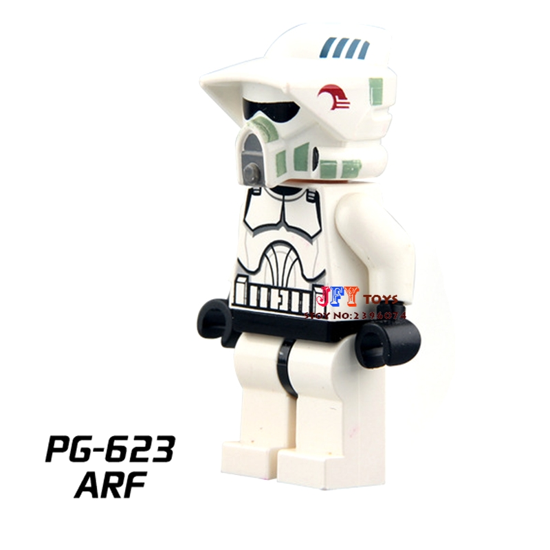 все цены на Single Sale star wars superhero ARF Clone Trooper building blocks model bricks toys for children brinquedos menino