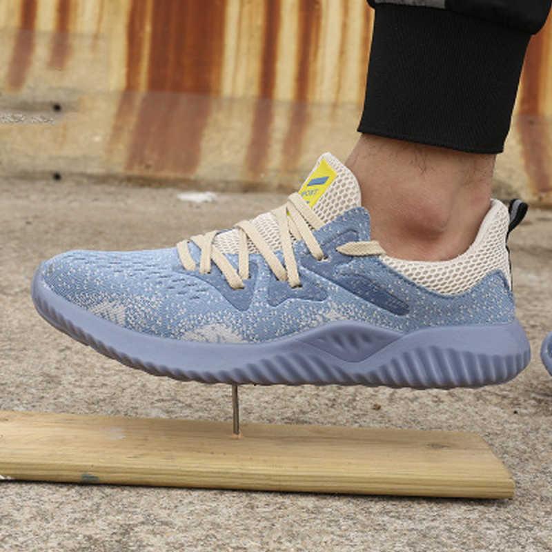 Dropshipping yıkılmaz Ryder ayakkabı erkekler ve kadınlar hava güvenlik çelik ayak botları delinmez Sneakers nefes iş ayakkabısı