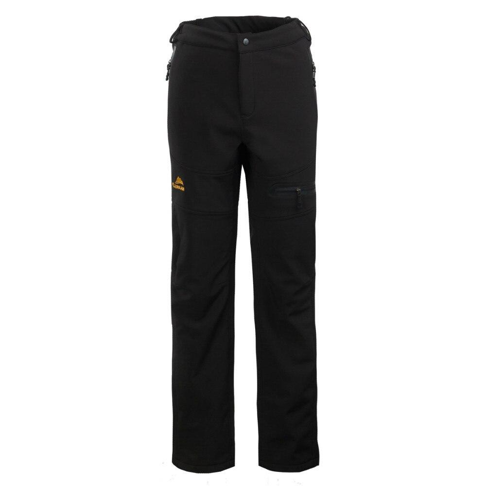 Mens Outdoor Waterproof Pants Soft Shell Camping Hiking Golf Outdoor Sports Warm Fleece long Pant